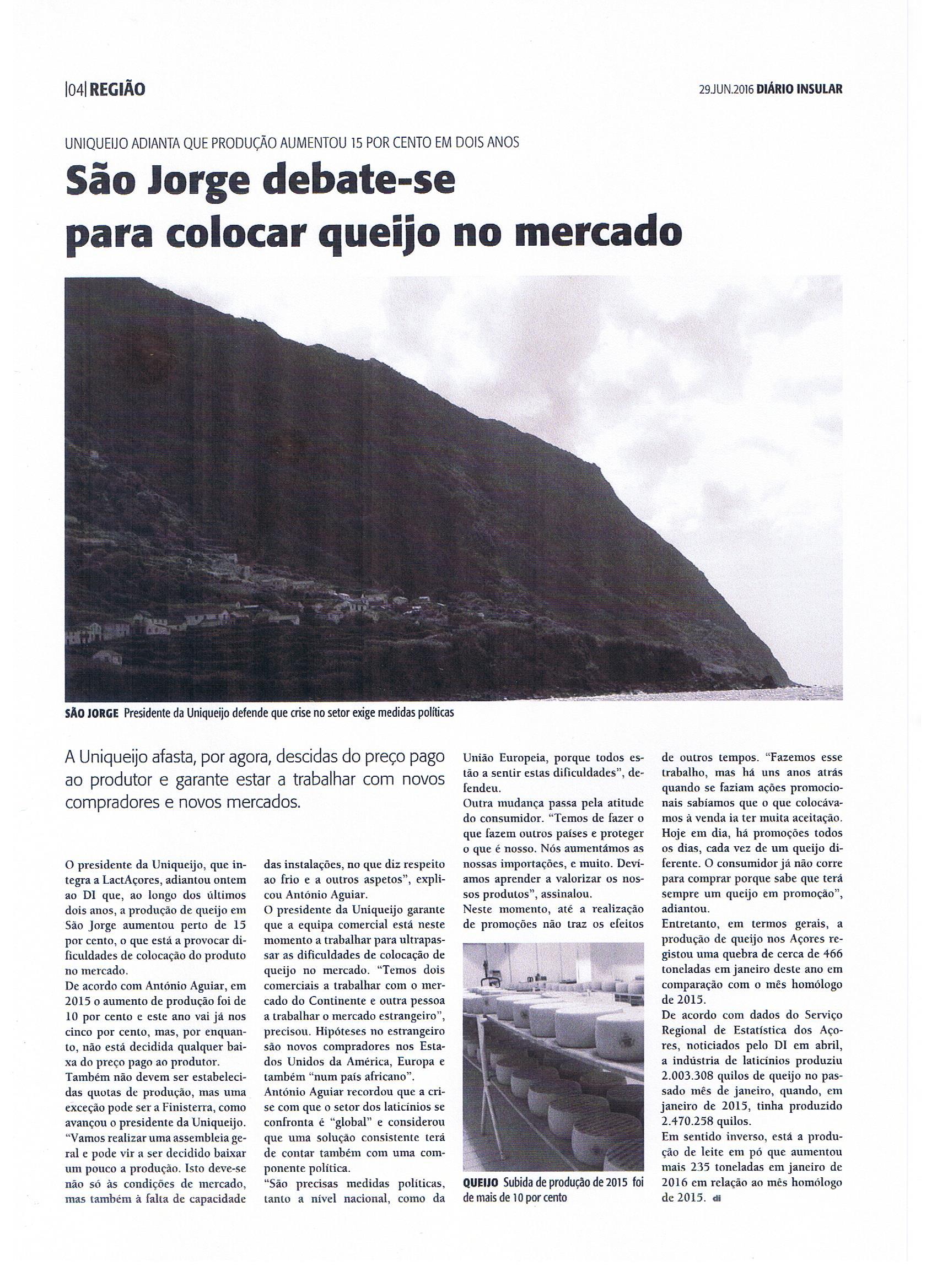 PREOCUPAÇÃO OU ALERTA? QUEIJO DE SÃO JORGE COM FALTA DE MERCADO.