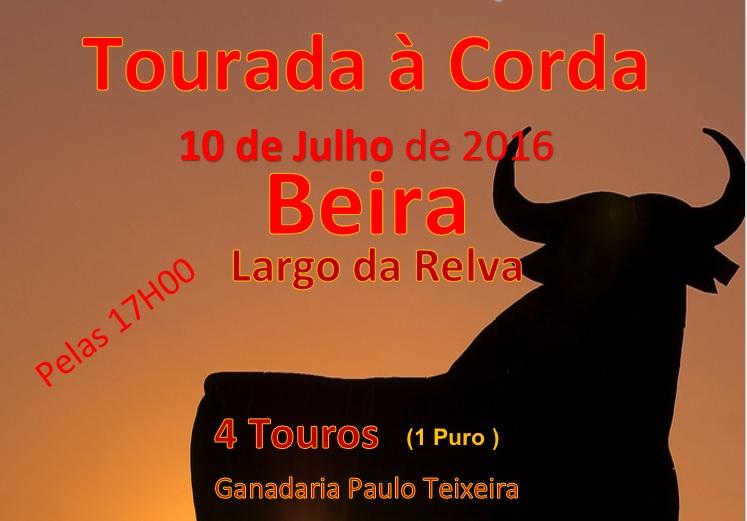 Tourada à Corda no próximo fim de semana, no lugar da Beira (Relva) – 10.07.2016