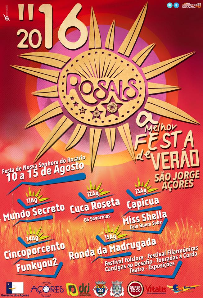 ROSAIS EM FESTA – ILHA DE SÃO JORGE (AÇORES) (10 a 15 de Agosto)