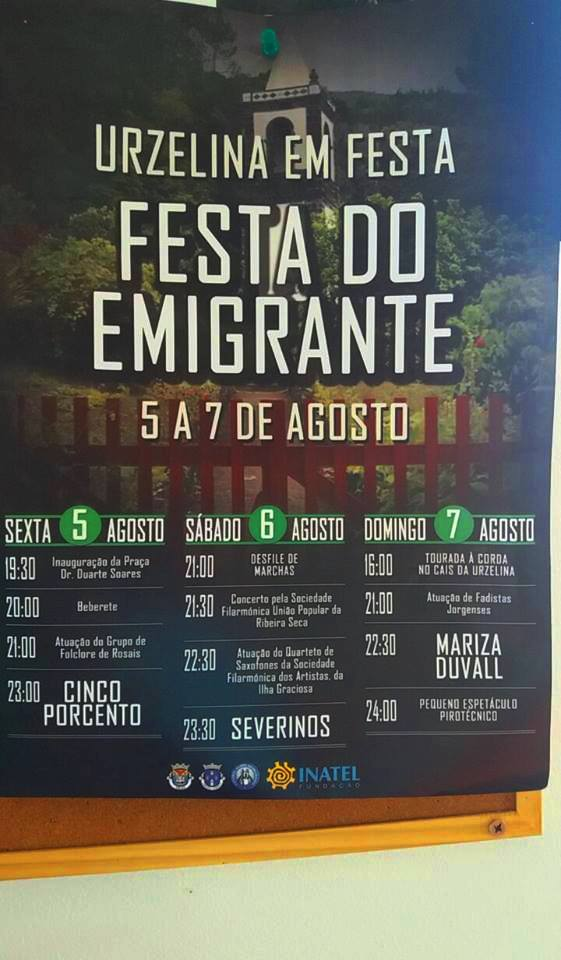 URZELINA EM FESTA – FESTA DO EMIGRANTE – (Ilha de São Jorge) (5 a 7 de Agosto)