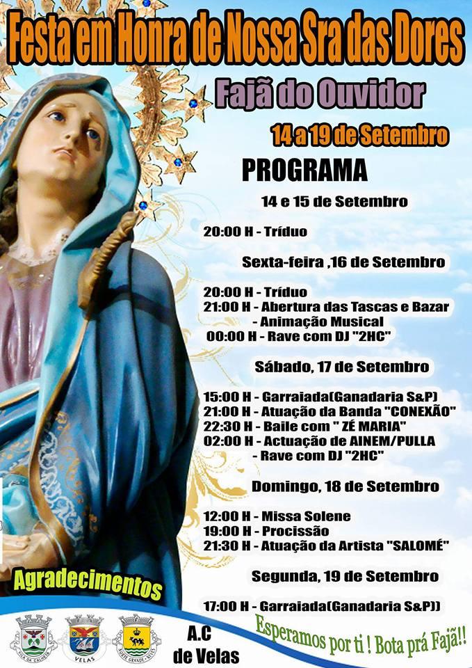 FESTA DE Nª SRª DAS DORES – FAJÃ DO OUVIDOR – ILHA DE SÃO JORGE (14 a 19 de Setembro)