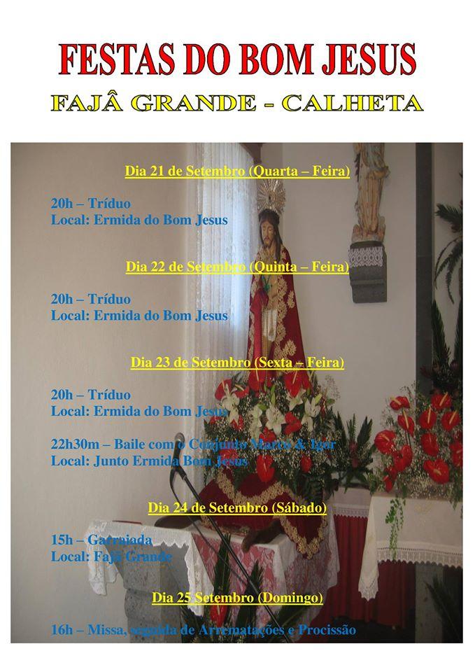 FESTAS DO SENHOR BOM JESUS – FAJÃ GRANDE / CALHETA (23 a 25 /Set)