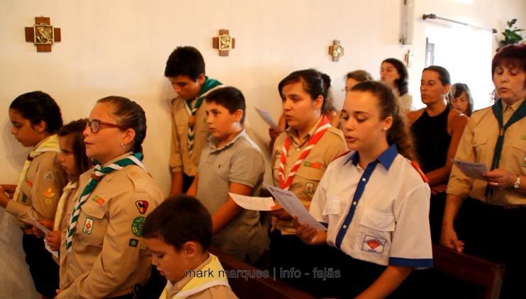 ESCUTEIROS – AGRUPAMENTO 1337 URZELINA – CANTAM MISSA SOLENE. (c/ vídeo)