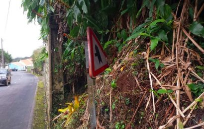 Sinalização das Estradas do lado Norte e Topo da Ilha de São Jorge