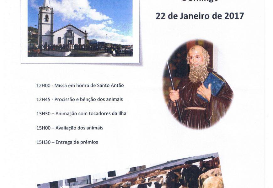 ROSAIS PROMOVE FESTA DE SANTO ANTÃO dia 22 de Janeiro – Ilha de São Jorge