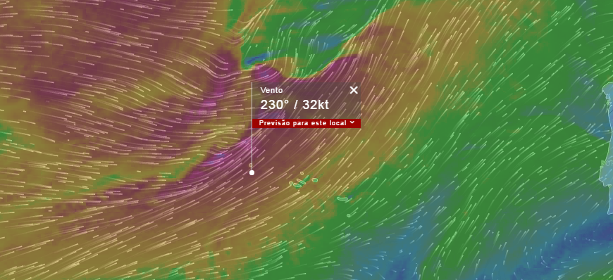 Proteção Civil alerta para previsão de vento forte no Grupo Ocidental (Ilhas das Flores e Corvo)