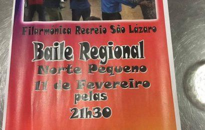 SOCIEDADE FILARMÓNICA RECREIO DE SÃO LÁZARO PROMOVE BAILES REGIONAIS – NORTE PEQUENO (Dia 11 – Sábado)