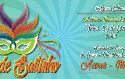 NOITE DE BAILINHO – CARNAVAL 2017 – AUDITÓRIO MUNICIPAL DAS VELAS. (dia 28 / terça-feira)