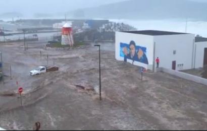 O mar galgou a terra – Vila da Madalena – Ilha do Pico (c/ vídeo)