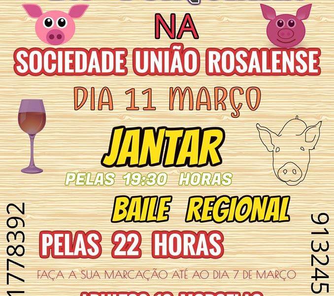 JANTAR E BAILE REGIONAL – MATANÇA DA PORQUINHA – ROSAIS / ILHA DE SÃO JORGE (Dia 11 de Março)
