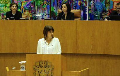 Deputada do CDS-PP Catarina Cabeceiras, denuncia falta de respeito dos socialistas para com a Ilha de São Jorge
