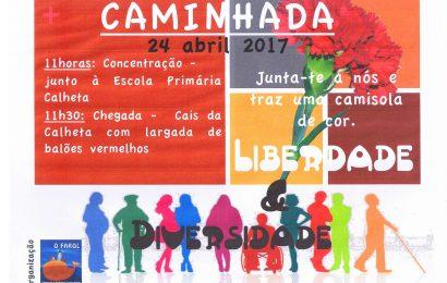 """CAMINHADA PELA """"LIBERDADE & DIVERSIDADE"""" – CAO – CALHETA (dia 24 de Abril) – Ilha de São Jorge"""