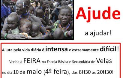 AJUDE A AJUDAR – Feira na Escola Básica e Secundária de Velas  (10 de Maio) – Ilha de São Jorge