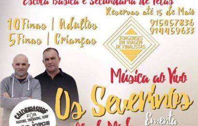 FINALISTAS DA EBS DE VELAS PROMOVEM JANTAR E MÚSICA AO VIVO – Ilha de São Jorge (19 de Maio)
