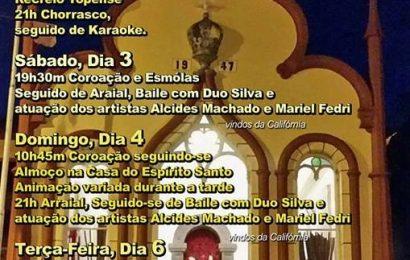 FESTAS DO DIVINO ESPÍRITO SANTO – VILA DO TOPO – (2 a 6 de Junho) – Ilha de São Jorge.