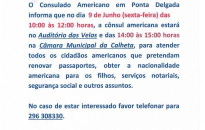 Cônsul Americana estará no dia 9 de Junho na Ilha de São Jorge
