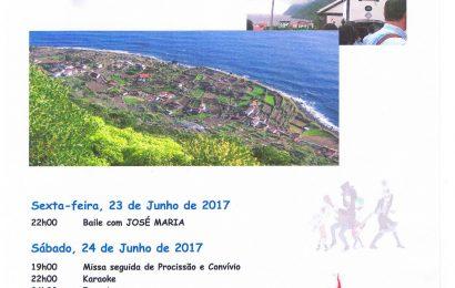 FAJÃ DE SÃO JOÃO EM FESTA DE 23 a 25 – SANTO ANTÃO – Ilha de São Jorge