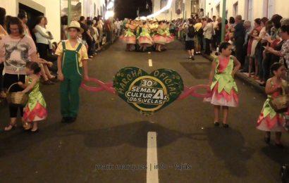MARCHA OFICIAL DA 30ª SEMANA CULTURAL DAS VELAS – FESTIVAL DE JULHO 2017 – CALHETA – Ilha de São Jorge (c/ vídeo)