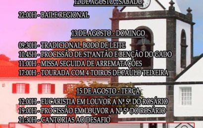 FESTAS NO NORTE PEQUENO EM HONRA DE Nª SRª DO ROSÁRIO – Ilha de São Jorge (12 a 15 de Agosto)