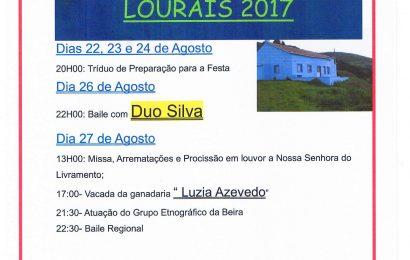 FESTA DE Nª SRª DO LIVRAMENTO – LOURAIS / 2017 (Ribeira Seca) de 22 a 27 de Agosto – Ilha de São Jorge.