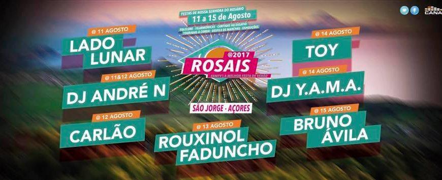 FESTAS DE Nª SRª DO ROSÁRIO – AS MELHORES FESTAS DO VERÃO – ROSAIS – (11 a 15 de Agosto) – Programa detalhado em anexo.