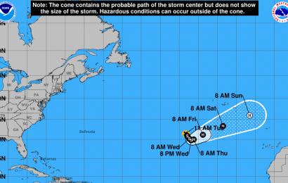 Tempestade tropical Ophelia deverá afetar os Açores, alerta Proteção Civil