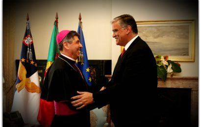Presidente do Governo dos Açores, recebeu D. José Avelino Bettencourt (Natural da Ilha de São Jorge)