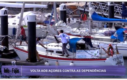 """""""VOLTA AOS AÇORES CONTRA AS DEPENDÊNCIAS"""" teve primeira paragem na Ilha de São Jorge – João Silva quer sensibilizar para a problemática do vício do álcool e das drogas. (c/ vídeo)"""