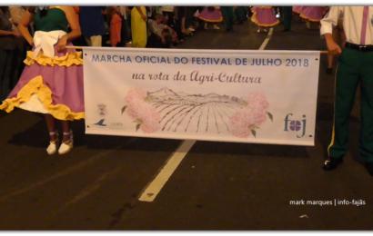 MARCHA OFICIAL DO FESTIVAL DE JULHO 2018 – Vila da Calheta – Ilha de São Jorge (c/ vídeo)
