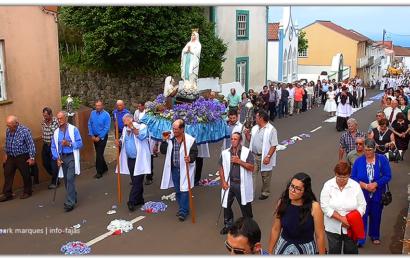 PROCISSÃO DE Nª SRª DE LOURDES – Santo Antão – Ilha de São Jorge (c/ vídeo)