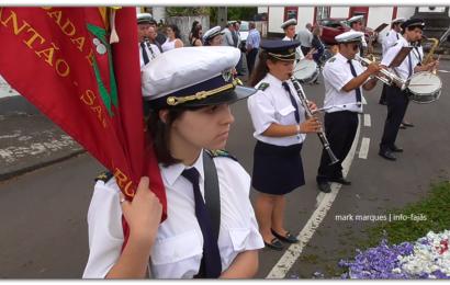 BANDA RECREIO DOS LAVRADORES – FESTA DE Nª SRª DE LOURDES EM SANTO ANTÃO – Ilha de São Jorge (c/ vídeo)