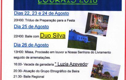 FESTA DE Nª SRª DO LIVRAMENTO – Lourais / Ribeira Seca, 25 e 26 de Agosto (Programa) – Ilha de São Jorge