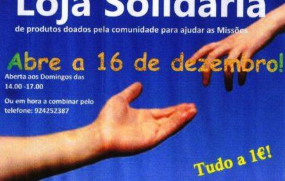 LOJA SOLIDÁRIA para ajudar as Missões, abre na freguesia de Santo Amaro – Ilha de São Jorge