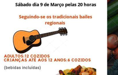 """JANTAR DE """"COZIDO À PORTUGUESA"""" E """"BAILES REGIONAIS"""" na freguesia de Rosais – Próximo dia 9 de março (sábado) – Ilha de São Jorge"""