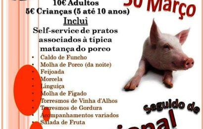 JANTAR DE MATANÇA / BAILES REGIONAIS – Próximo dia 30 na Casa do Povo de Velas (Beira) – Ilha de São Jorge