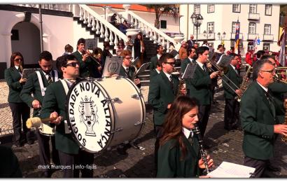 BANDA FILARMÓNICA NOVA ALIANÇA participa na Procissão de Passos – Vila das Velas – Ilha de São Jorge (c/ vídeo)