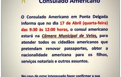 Cônsul Americano estará no próximo dia 17 de Abril na Ilha de São Jorge, para atender cidadãos Americanos.