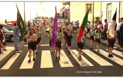 CHARANGA DOS ESCUTEIROS DESFILA NO FESTIVAL DE JULHO / 2019 – Vila da Calheta – Ilha de São Jorge (c/ vídeo)