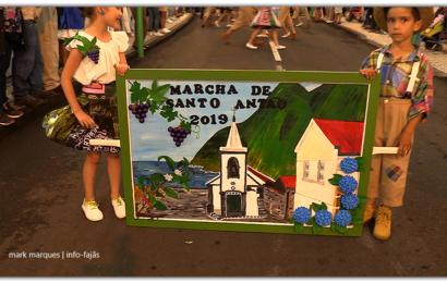 MARCHA OFICIAL DE SANTO ANTÃO, DESFILA NO FESTIVAL DE JULHO / 2019 – Vila da Calheta – Ilha de São Jorge (c/ vídeo)