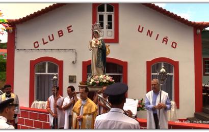PROCISSÃO DE Nª SRª DO IMACULADO CORAÇÃO – 150º ANIVERSÁRIO DA SOCIEDADE FILARMÓNICA CLUBE UNIÃO – Vila do Topo – Ilha de São Jorge (c/ vídeo)
