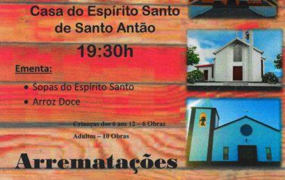 JANTAR e BAILE REGIONAL – Próximo dia 30 de Nov. – Angariação de fundos para Igrejas da Paróquia de Santo Antão