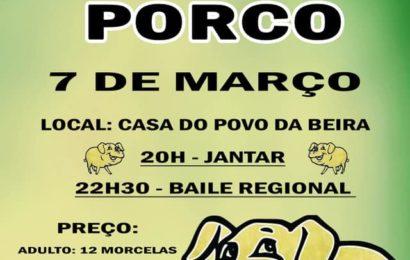 JANTAR DE MATANÇA DE PORCO – PRÓXIMO SÁBADO DIA 7 DE MARÇO – CASA DO POVO DE VELAS (BEIRA) – Ilha de São Jorge