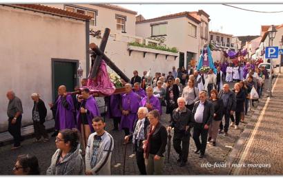 PROCISSÃO DO SENHOR DOS PASSOS (Encontro) – Vila das Velas – Ilha de São Jorge (c/ vídeo)