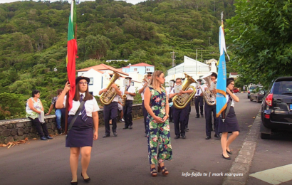 BANDA RECREIO NORTENSE abrilhantou a Festa de Nª Srª das Dores – Fajã do Ouvidor – Ilha de São Jorge (c/ vídeo)