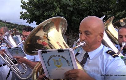 """""""FILARMÓNICA DE SANTO AMARO"""" – Festa de Nª Srª do Socorro – Biscoitos / Calheta – Ilha de São Jorge (c/ vídeo)"""